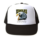 Trucker Hat Cap Foam Mesh School Team Mascot Eagles Loud Proud