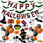 Halloween Party Decorations foil Balloon Garland Arch Kit Helium Balloons Set