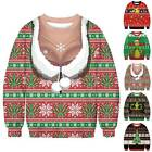 Xmas Ugly Sweatshirt Novelty Jumper Funny Christmas Pullover Unisex Printed Top