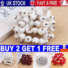 40x Christmas Berry Foam Frosted Red Berries Artificial Flower Home Xmas Decor