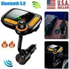 Bluetooth Wireless In Car MP3 FM Transmitter Car Radio Adapter 2 USB Charger US