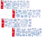 Christmas Xmas Glitter Removable Window Stickers Decal Wall Home Shop Decor Uk