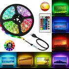Tira LED luz adhesiva Tape USB Party Decoración TV 5M/10M MANDO RBG...
