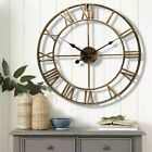 European Style Large Roman Numerals Wall Clock Home Decor Round Watch
