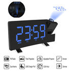 Digital LCD Snooze Alarm Clock Radio LED Color Display Wall/Ceiling Projection