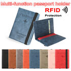 Package Ultra-thin Passport Bag Travel Cover Case Passport Holder RFID Wallet