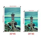 Removable Pvc Wall Sticker Home Decoration Mural Diy Seaside Lighthouse Luminous