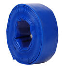 Layflat Water Delivery Hose PVC Lay Flat Pipe Long Discharge Pump Tube 5bar Blue
