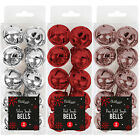 PACK OF 10 CHRISTMAS RINGING JINGLE BELLS CHARMS 25MM XMAS PARTY FUN TOP QUALITY