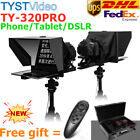 """TYST TY-320PRO 14"""" Protable Video Teleprompter For Smartphone Tablet DSLR Remote"""