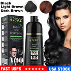 Mokeru 500ml Hair Color Shampoo Natural Organic Coconut Oil Essence Hair Dye New