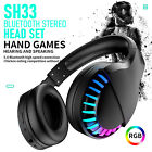 Gaming Headset Wired RGB Light Over Head Headphone for Laptop Phone Tablet Game#