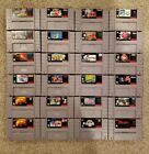 Super Nintendo SNES Custom Game Lot - Select a Title - Discount Shipping