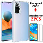 For Xiaomi Redmi Note 9S 9 8 Pro 9A 9C Clear Case Cover + Glass Screen Protector