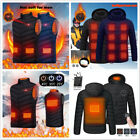 Electric Coat Heated Jacket Men Women Winter Warm Up Heating USB Hooded Tops