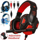 Gaming Headset Mic LED 3.5mm Headphones Stereo Surround For PS5 4 Xbox ONE iPad