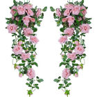 7ft Artificial Faux Flower Silk Rose Leaf Garland Vine Ivy Home Party Decor W-4