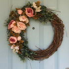 Artificial Vine Ring Wreath Rattan Wicker Garland Xmas Christmas Party Wreath