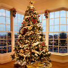 4.5FT 7FT 9FT Pine Christmas Tree Luxury Artificial Tree Warm White LEDs Pre Lit