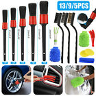 9/5pcs Car Detail Brush Wash Auto Detailing Cleaning Kit Engine Wheel Brushes