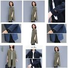 T-Shirt O Neck Top Loose Pullover Long Sleeve New Casual V Neck Womens Solid