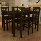 4 Person wooden Dining Table set Furniture 4x Chairs Seat Breakfast Kitchen Room
