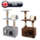 Deluxe Cat Tree Climbing Tower Scratching Post Kitten Activity Centre Bed Condos