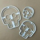Spooky Skull Halloween Shape Cookie Cutter Dough Biscuit Pastry Fondant Stamp