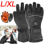 Electric Battery Powered Warm Heated Hand Gloves Touchscreen Winter Waterproof