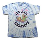 Spongebob Squarepants Mens It's All Relative Tie Dye Shirt XS-2XL
