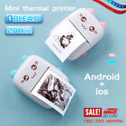 Mini Photo Printer Pocket Wireless Bluetooth For Android/iOS With Paper