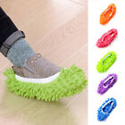 1pair Micro Fiber Slipper Shoe Cover Mop Floor Dust Cleaning Multi-function Blue