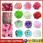 50pcs Artificial Fake Foam Rose Heads Flower Buds Bouquet Diy Home Wedding Decor