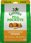 GREENIES Pill Pockets Natural Dog Treats Capsule Size Chicken Flavor 60-Count