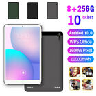 """10.1"""" WIFI/4G-LTE 8 256G Tablet Android 10.0 OS HD Screen PC SIM GPS Dual Camera"""