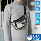 Waist Bag Purse Clear Transparent Zip Fanny Pouch Travel Pack Adjustable Strap