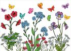 Flower Butterfly Sticker, Window, Wall, Privacy, Decal, Home
