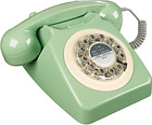 Retro 1960s Telephone Push Button Corded Wild & Wolf 746 Phone