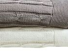Super Soft Warm 100 Ring Spun Cotton Cable Knit Throw Blanket