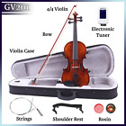 Glarry Acoustic Violin Set 4/4 Full Size for Beginner Student Solid Spruce Maple