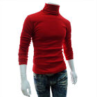 Men High Neck Knitted Jumper High Roll Turtle Neck Knitwear Pullover Casual Tops