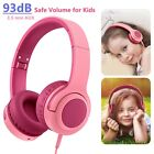Adjustable Kids Wired Headphones 3.5mm Volume Control Headset for Phone PC iPad