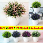 Realistic In Pot Artificial Flowers Potted Fake Plants Bonsai Home Garden Decor