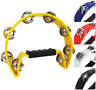 More images of A-Star Half Moon Tambourine, Double Jingle Bell Cutaway Single Item, Yellow