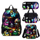 Among Us Game Galaxy Backpack School Lunch Box Pen Case Shoulder Bags Lot Combo