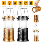 6LED Camping Lantern Ultra Bright Solar Rechargeable Collapsible Lamp Portable
