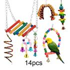 14X Parrot Toys Metal Rope Small Ladder Stand Budgie Cockatiel Cage Bird Toy Set