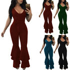 Womens Tie Dye Slim Fit Playsuits Ladies Summer Casual Zipper Jumpsuits Pants