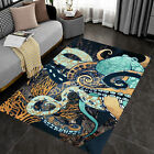 HOME DECOR AREA RUG - Octopus Art Area Rugs, Luxury Area Rugs For Living Room