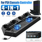 Vertical stand Dual Dock Charging Station Cooling Fan for PS4 Console Controller